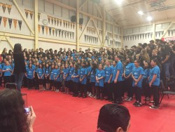 Combined choirs at the Superintendent's Concert